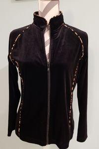 Coldwater creek 2 piece jogger black suit
